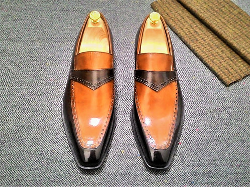 Two Tone Brogue Loafer LF51