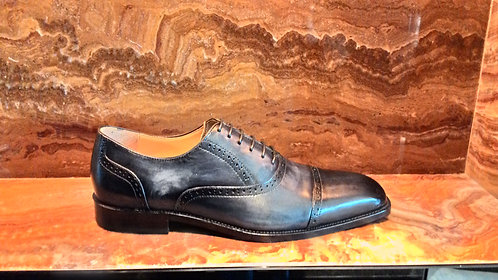 Hand Painted Captoe Brogue Shoe