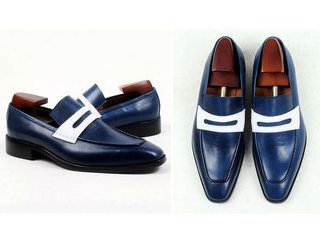 Two Tone Penny Loafer LF18