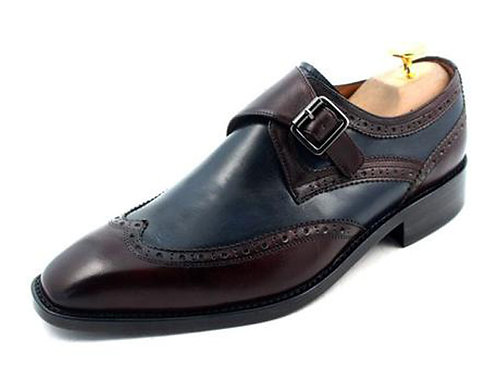 Two Tone Wing Monk Shoe SB05