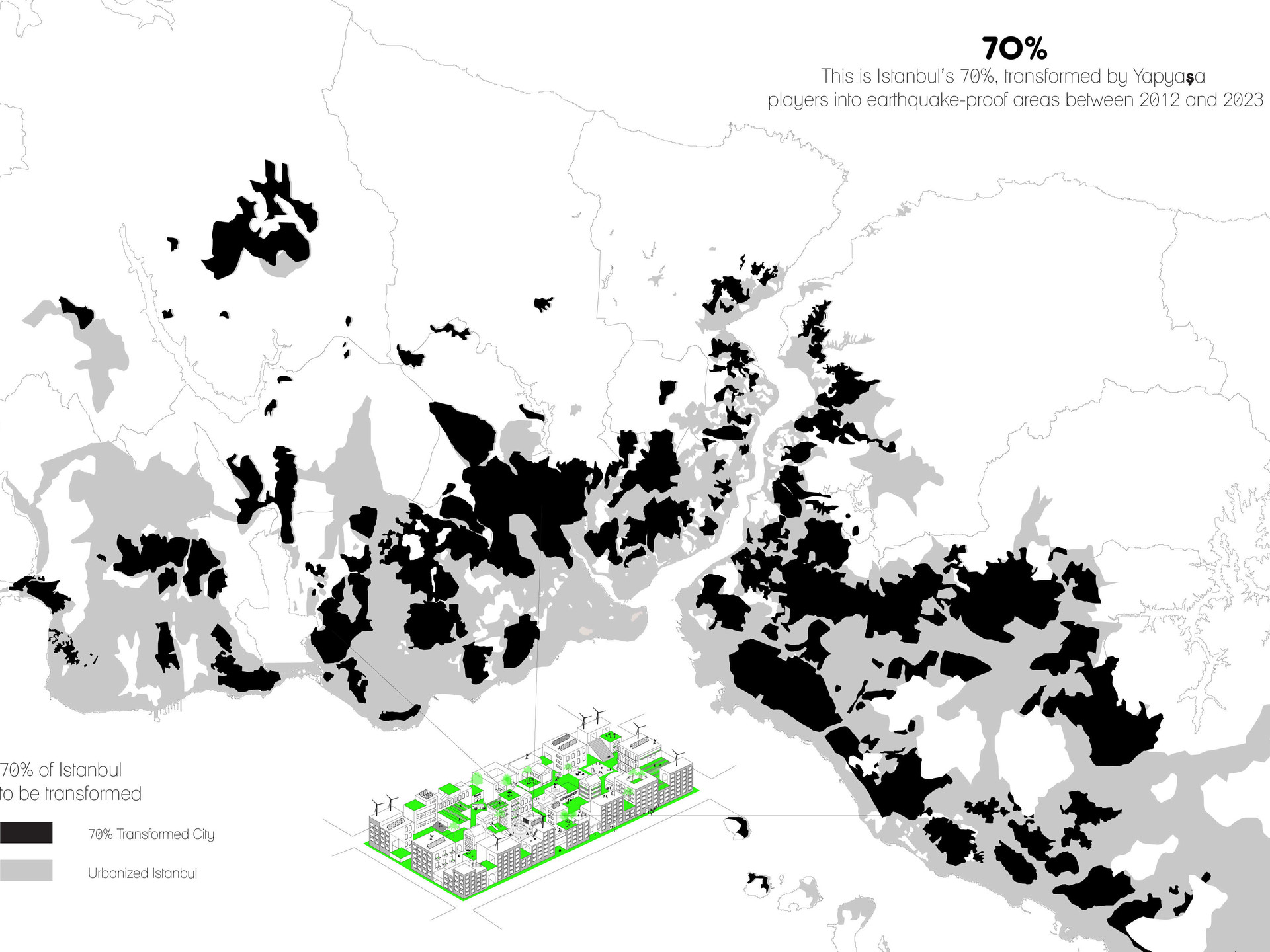 This is Istanbul's 70%, transformed by Yapyaşa players into earthquake-proof areas between 2012 and 2023.  All rights reserved