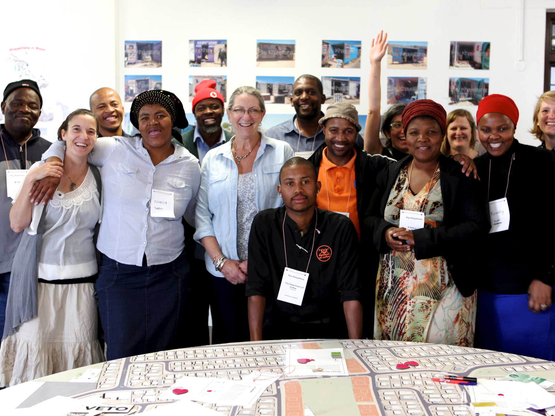 Stakeholders of the first City Gaming Session: four informal trade associations, the local councillor, the City's planning department, VPUU, MURP, local business owners, in-formal south and Play the City.