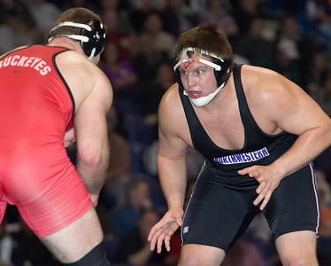 Dustin Fox (Northwestern) def. J. D. Bergman (Ohio State) _R3P8074-S