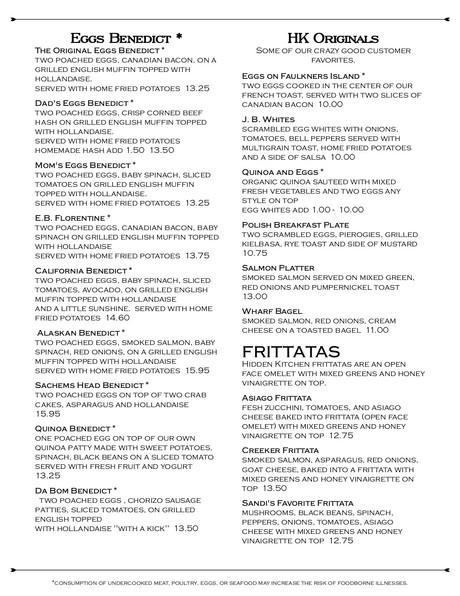 Breakfast Menu Restaurant Hidden Kitchen Route 80 North Branford Connect