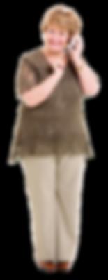 mce's grandma holding phone