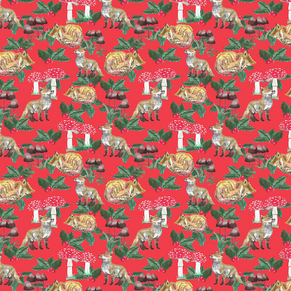 Foxes, Mushrooms and Holly-red.png