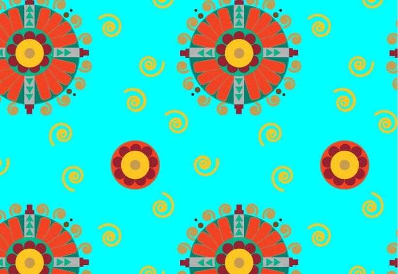 Mayan Muse textile design by Mandala Sunshine Designs