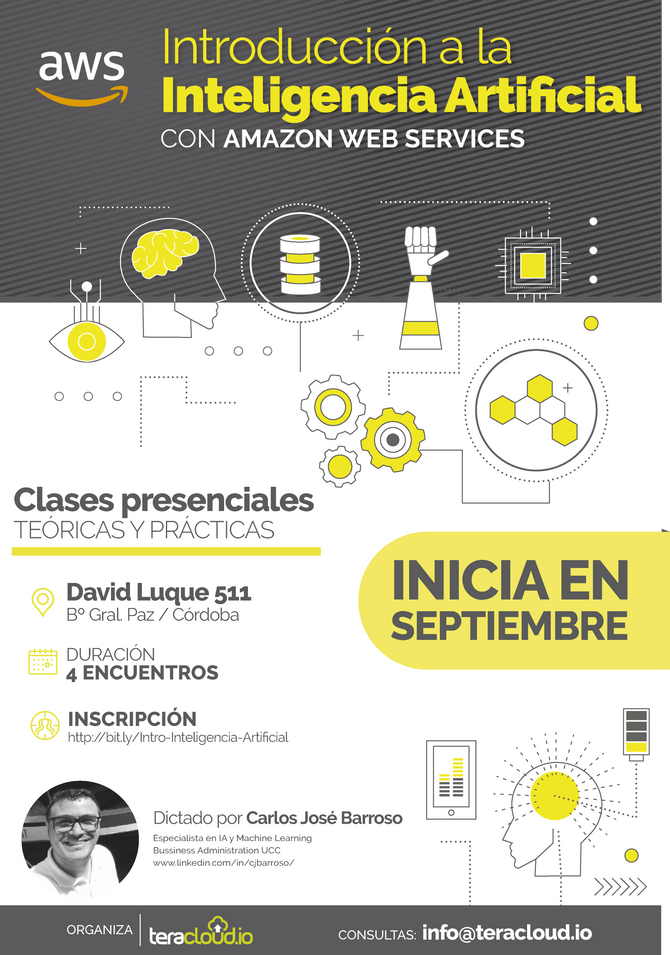 Join us! - Intro to Artificial Intelligence on AWS // Click over the image to subscribe.