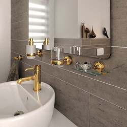 Geesa_BathroomAccessories_Tone_Gold