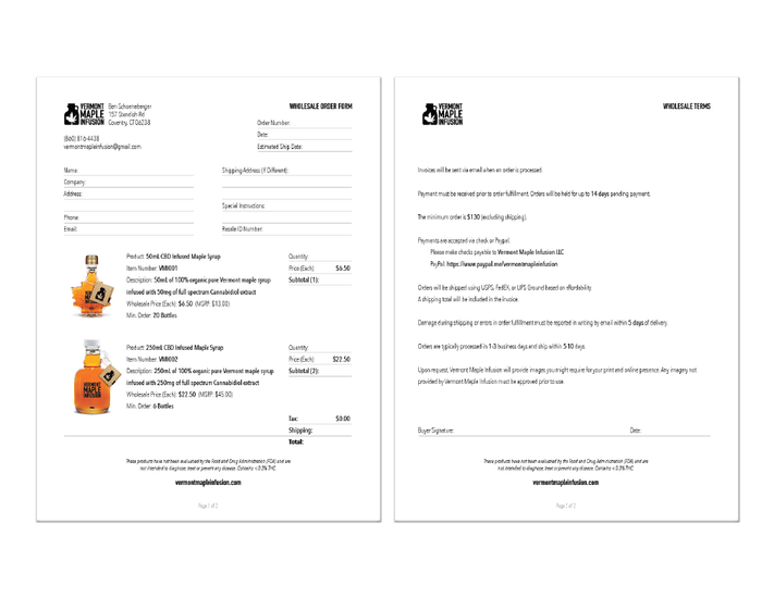 Wholesale Order Forms