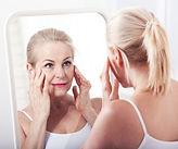 Woman enjying a skin tightening treatment