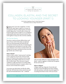 Brochure on rebuilding collagen in the face and body