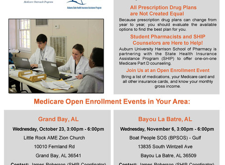 We will have a Medicare Outreach event at Grand Bay tomorrow afternoon!
