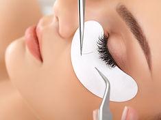 Woman Eye with Long Eyelashes. Eyelash E