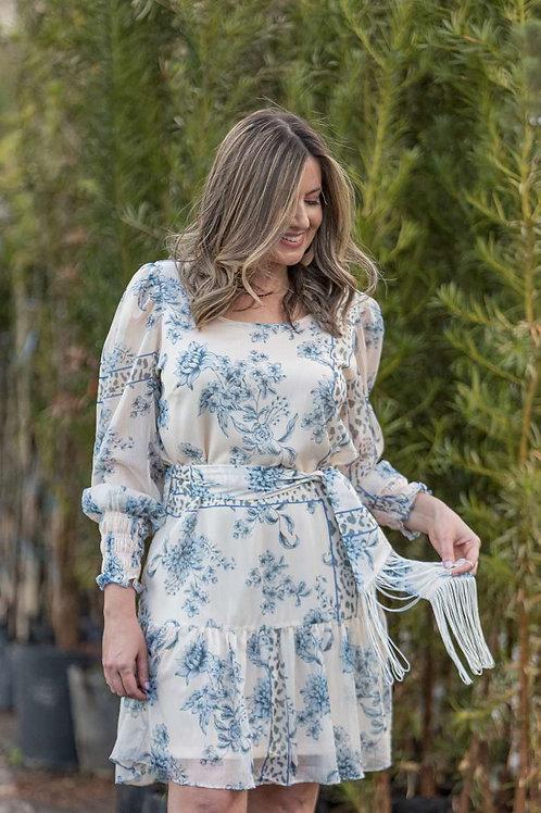 Vestido Floral com faixa