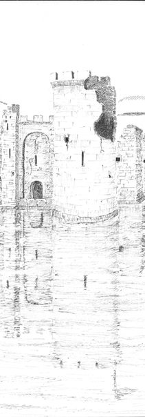 """""""Castle by pool river, -reflection fixed through centuries- castle destroyed, reflection lives to avenge the destroyers weirdly."""""""