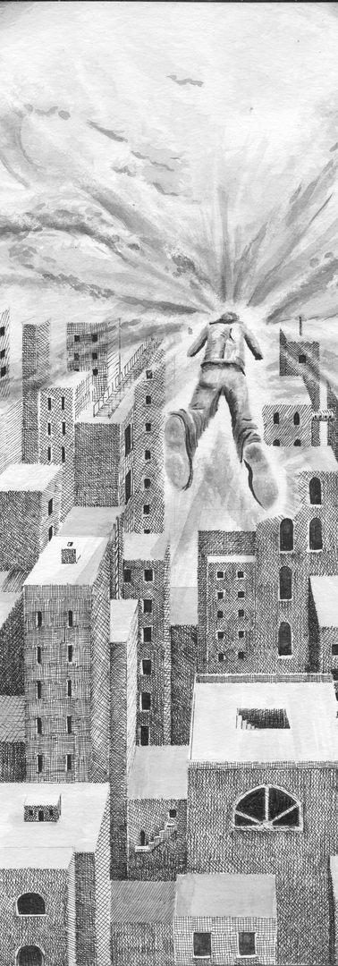 """Dream of flying over city."""