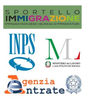 INPS, Agenzia delle Entrate, Ministero del Lavoro, sportello immigrazione