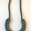 Thumbnail: Sage Green Knotted Cotton Cord Necklace