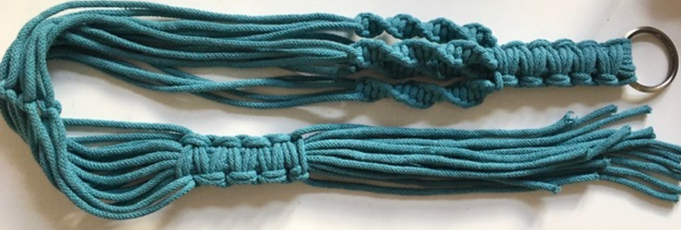 Teal Blue Recycled Cotton Plant Hanger