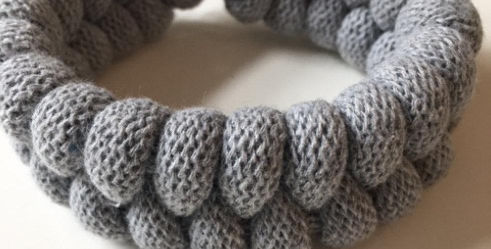 light grey chunky handmade bracelet