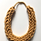 Thumbnail: Mustard Yellow Rope Style Cotton Necklace