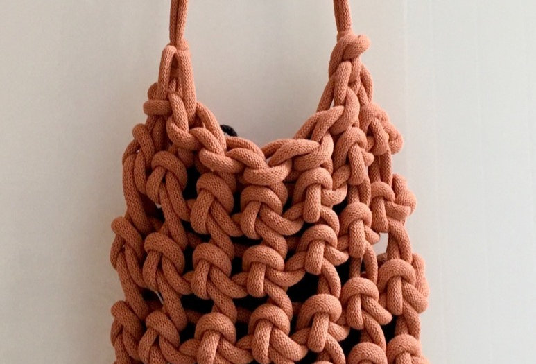 Terracotta Cross Body Knotted bag