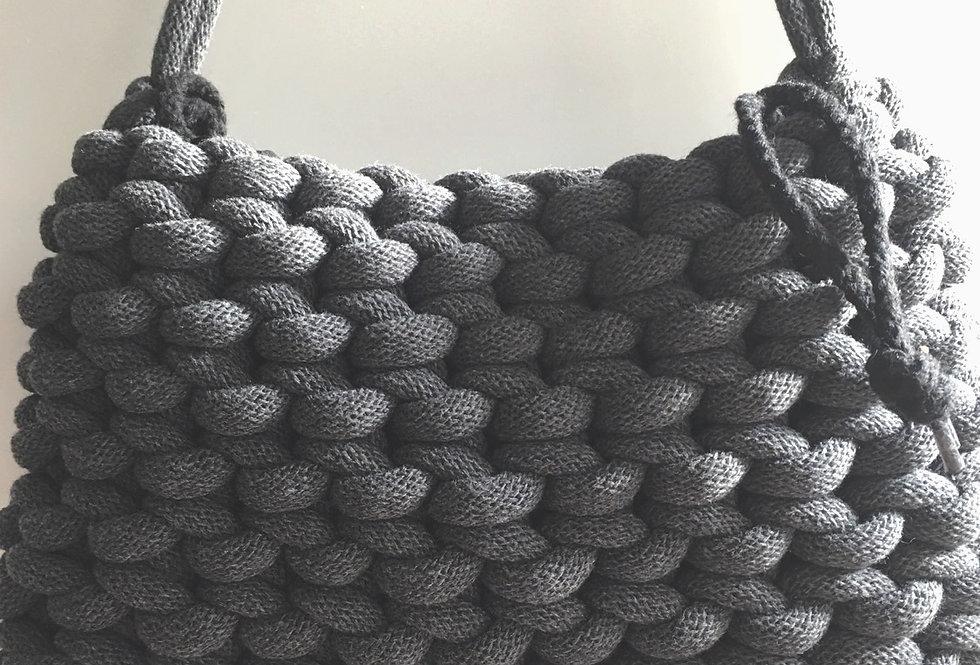 Charcoal Grey Short Shoulder Bag
