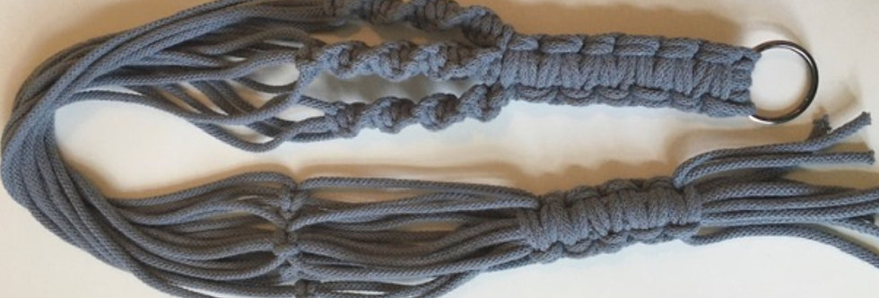 Grey Recylced Cotton Macrame Plant Hanger