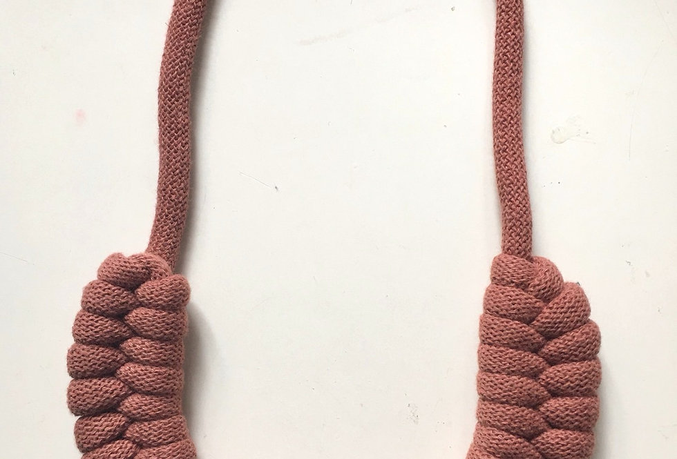 'Sunset' Knotted Cotton Cord Necklace