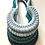 Thumbnail: Peacock Blue Knotted Cotton Necklace
