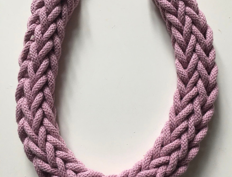 Dusty Pink Rope Style Necklace