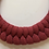 Thumbnail: Wild Rose Knotted Cotton Cord Necklace