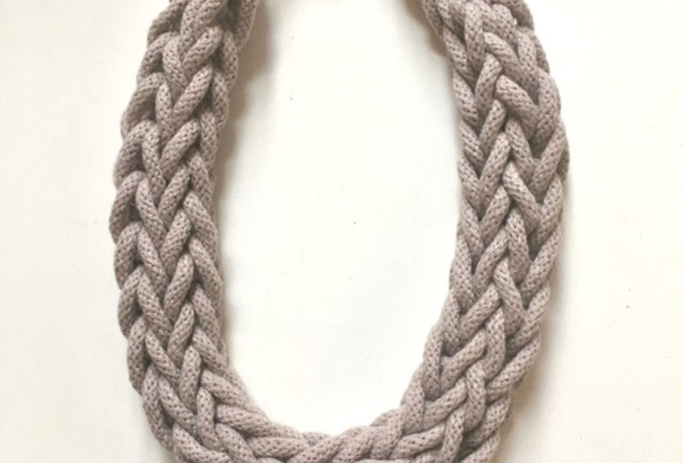 Neutral 'Pearl' Rope Style Cotton necklace