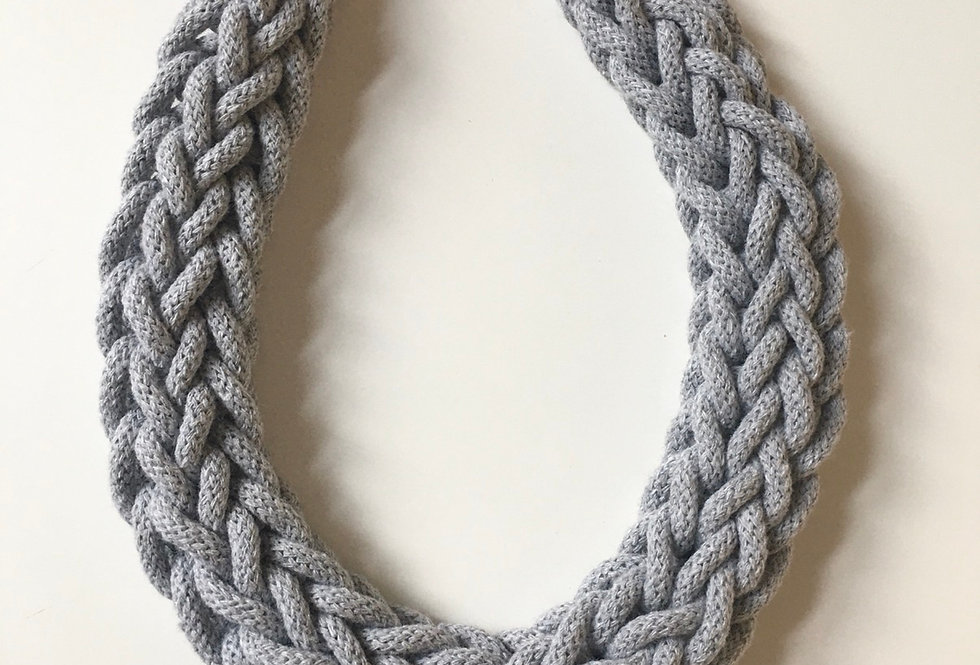 Light Grey Rope Style Necklace