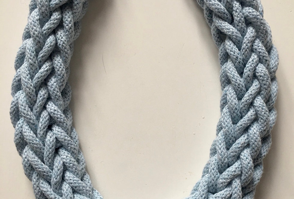 Light Blue Rope Style Necklace