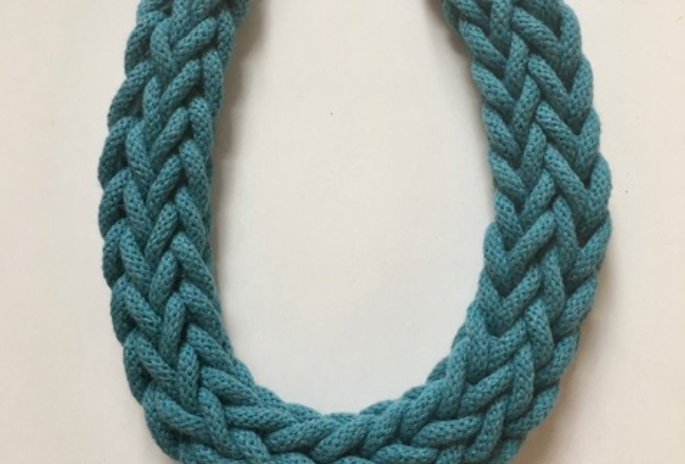 Teal Blue Rope Style Necklace