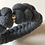 Charcoal grey knotted handmade bracelet with magnetic clasp bottom view