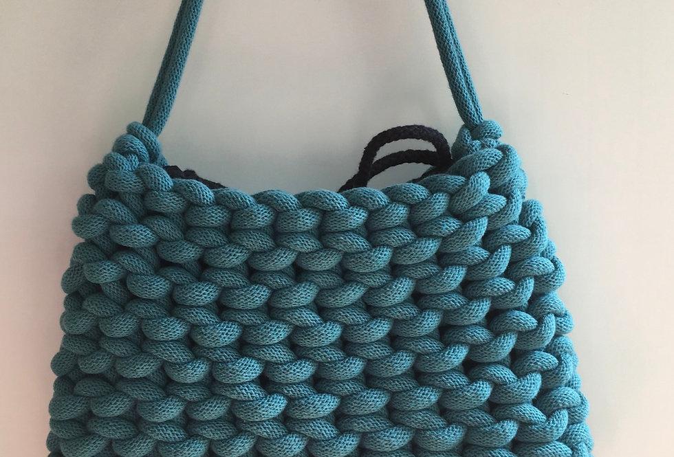 Teal Blue Short Shoulder Bag