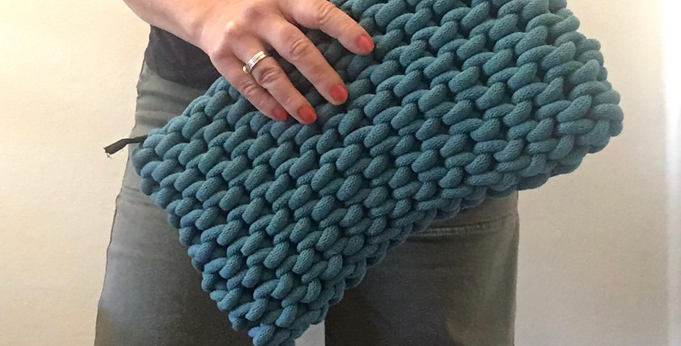 Large Teal Clutch