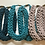 Thumbnail: Peacock Blue Rope Style Cotton Necklace
