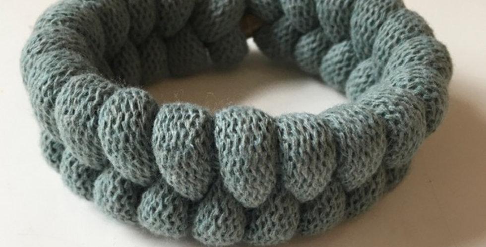 sage green handmade bracelet main view