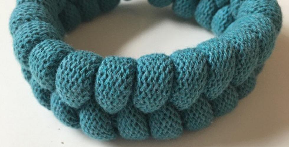 Teal blue handmade bracelet main view