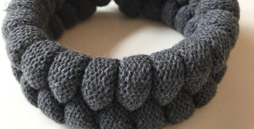 Charcoal grey handmade chunky bracelet main view