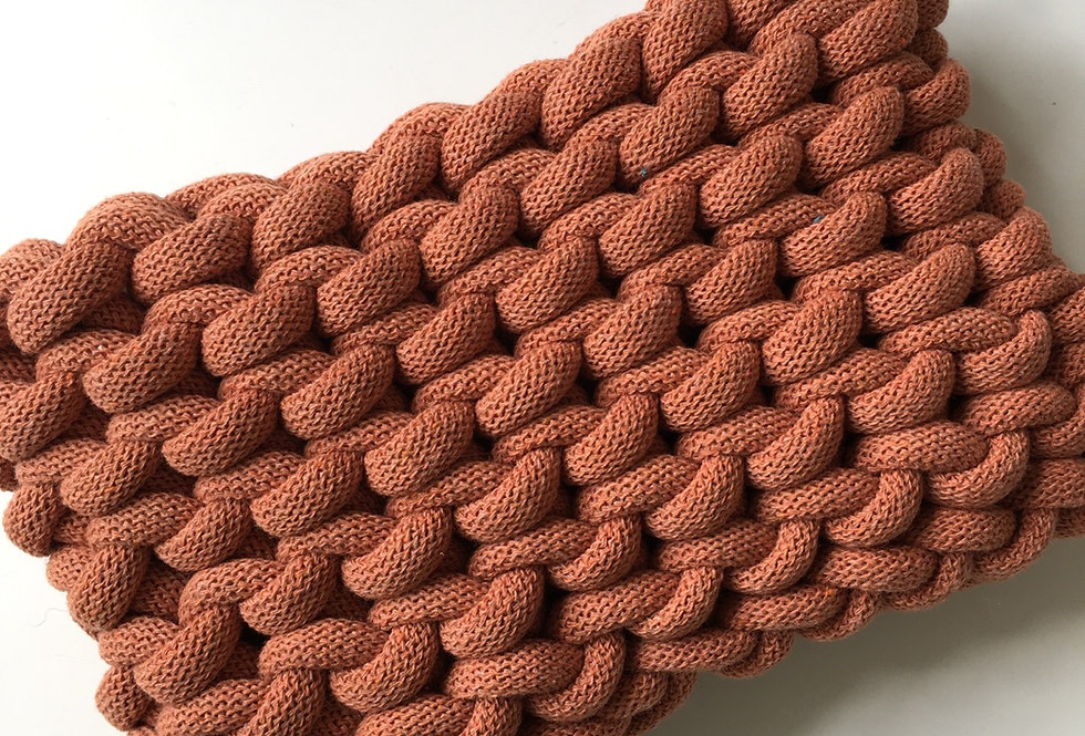 Terracotta Chunky Clutch Bag