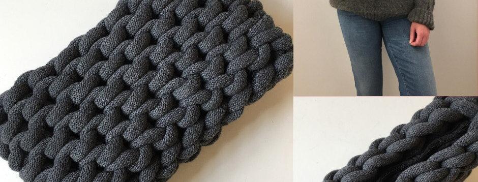 Charcoal Clutch Bag