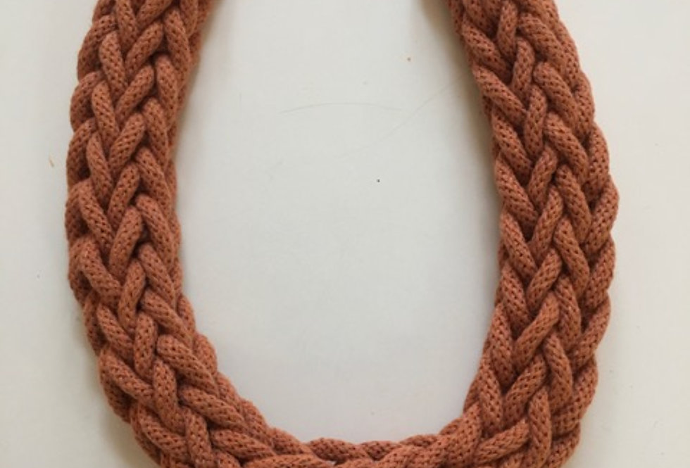 Terracotta Rope Style Cotton Necklace