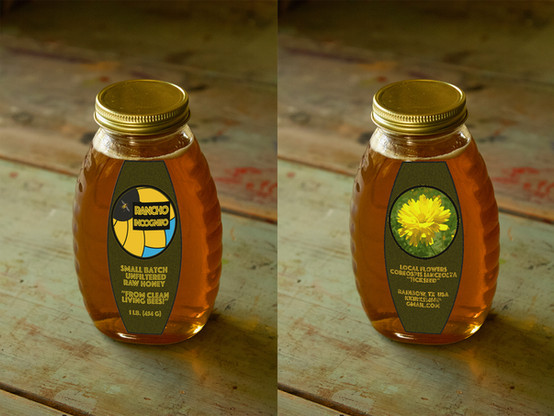 honey jar with label