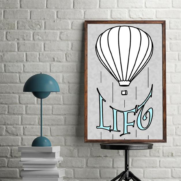 baloon poster mockup