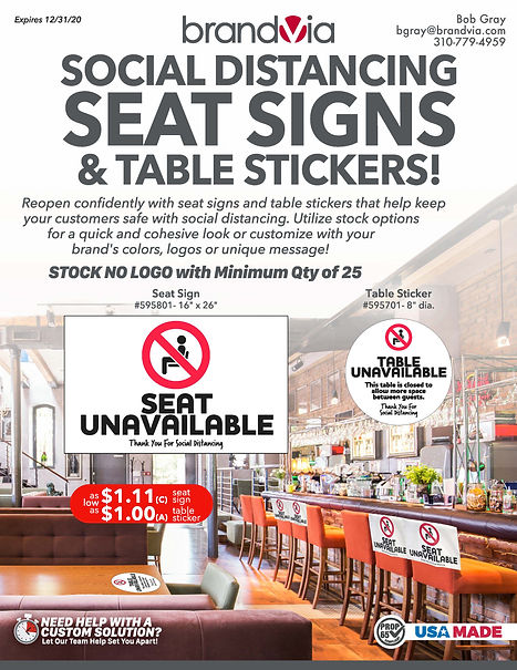 Brandvia_Seat Signs and Table Stickers_A